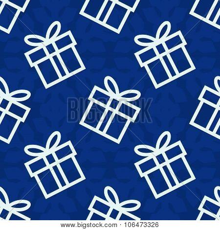 Christmas Gift Seamless Vector Pattern