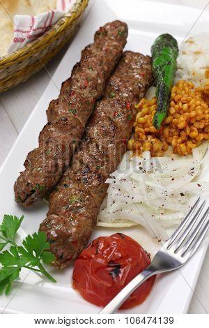 adana kebab, minced meat kebab, turkish food