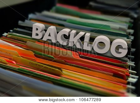 Backlog File Folders Wait Inefficient Bureaucracy