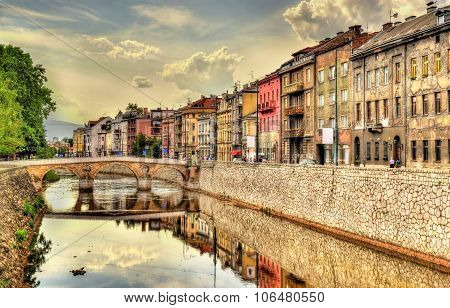 View Of The Historic Centre Of Sarajevo - Bosnia And Herzegovina