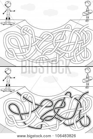 Skateboard Park Maze