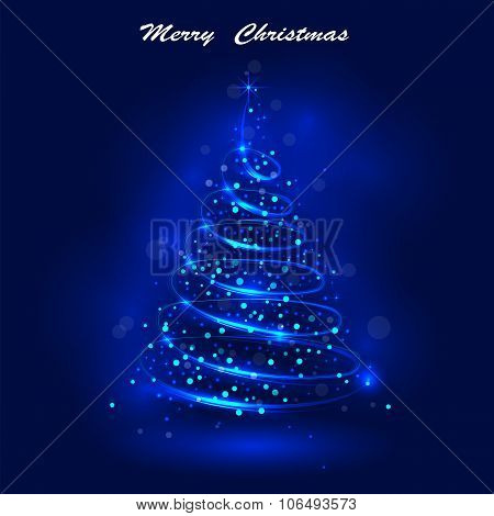 Shining Christmas Tree, The Magic Christmas Tree, Shinny Christmas Tree.happy New Year And Merry Chr