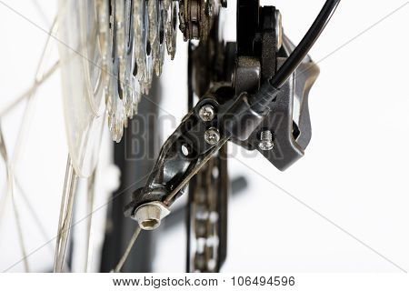 Closeup Of Rear Deraileur Adjusting Screws