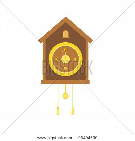 Traditional Christmas cuckoo clocks with pendulum