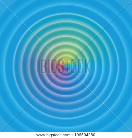 Water Circular Waves Rainbow Surface