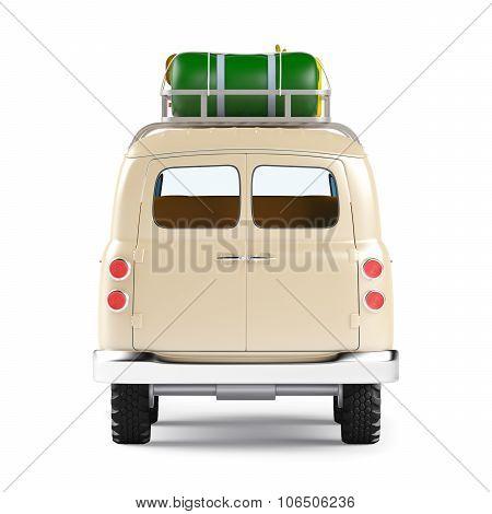 safari van with roofrack back