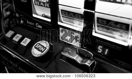 Casino Slot Machine Closeup