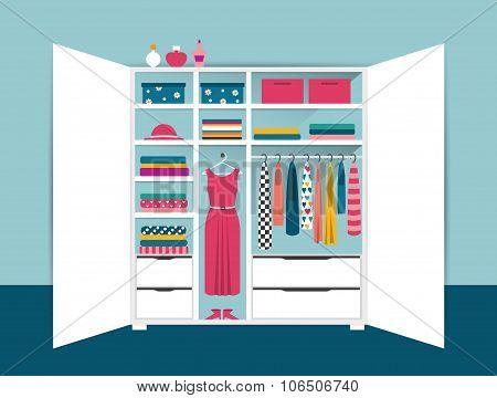 шкафы с векторным рисунком