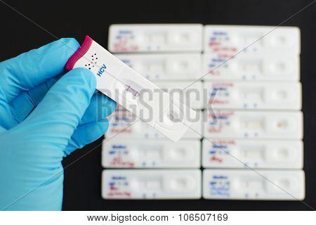 Hepatitis C virus (HCV) testing positive