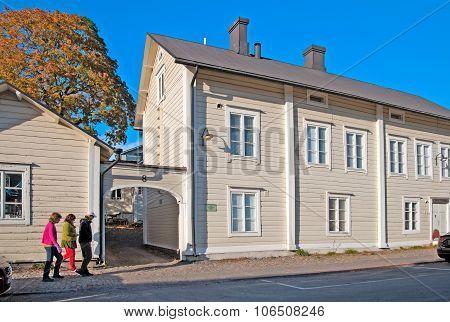 Porvoo. Finland. House of the poet johan Ludvig Runeberg