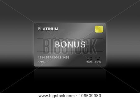 bonus reward platinum card on black background poster