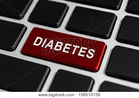 Diabetes Button On Keyboard