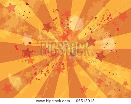 Grunge music background. Abstract vector illustration with background.