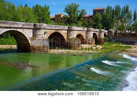 Bernesga river bridge in Leon Way of Saint James at Castilla Spain