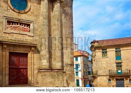 Santiago de Compostela Animas Chapel end of Saint James Way in Galicia Spain