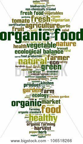 Organic Food Word Cloud
