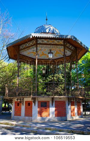 Burgos paseo espolon park templete in Castilla Spain