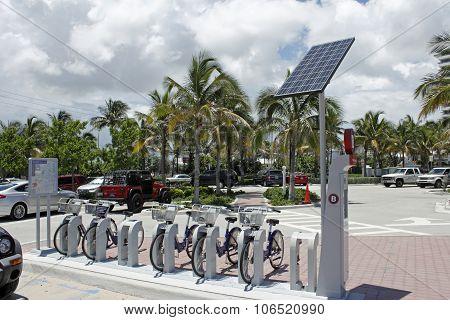 Broward B-cycle Kiosk At Fort Lauderdale Beach Park