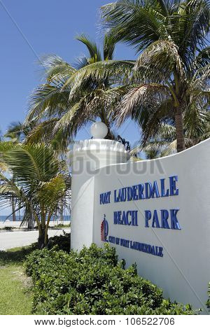 Beach Park In Fort Lauderdale