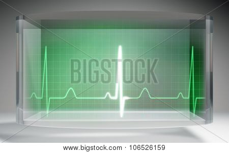 Futuristic Ekg Medical Liquid Crystal Display