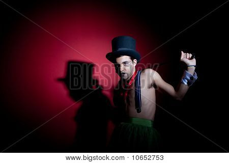 Man With Whip In Top Hat