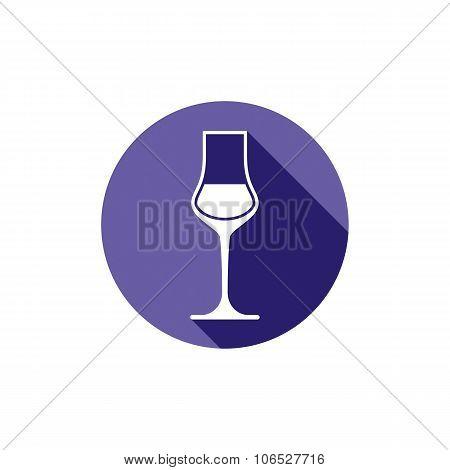 Winery Theme, Classic Wine Goblet Isolated On White. Wine Degustation Conceptual Symbol, Design Elem