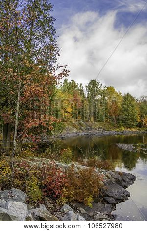 Northern River In Autumn - Algonquin Provincial Park