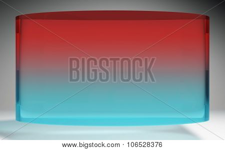 Futuristic Liquid Crystal Display Red Blue