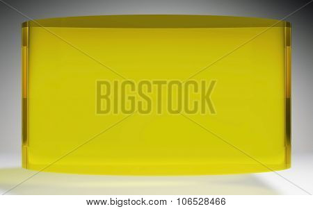 Futuristic Liquid Crystal Display Panel Yellow
