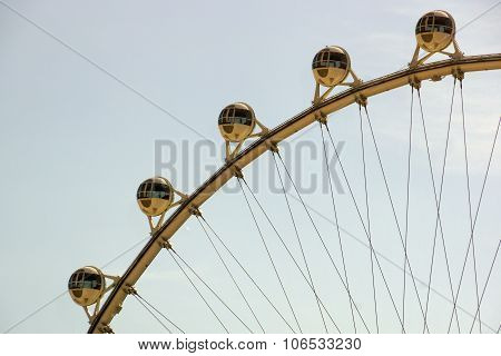 Close-up Of The High Roller Wheel At Dawn