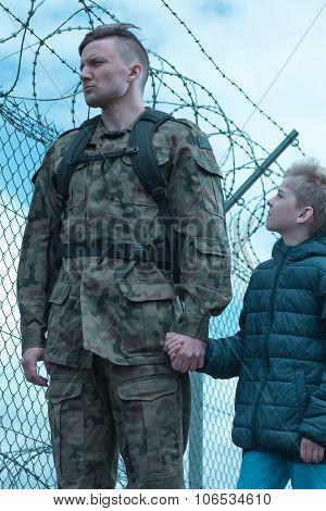 Son Accompanying Dad
