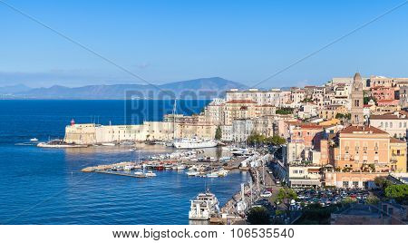 Cityscape Of Old Gaeta Town In Summer, Italy