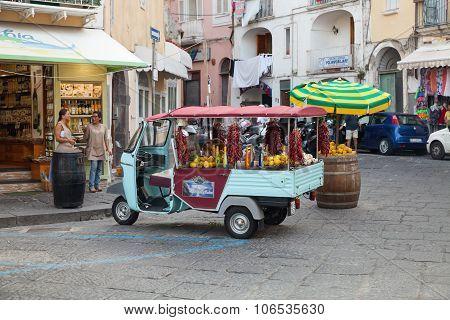 Limoncello Advertising Ape Car, Ischia