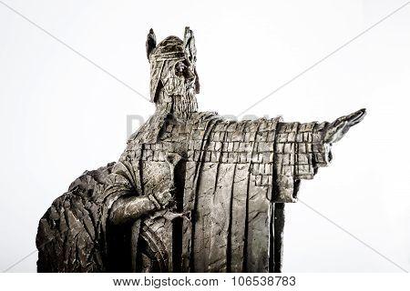 Zagreb, Croatia - January 23: Lord Of The Rings Figurine Showing Isildur The Argonath, King Of Gondo