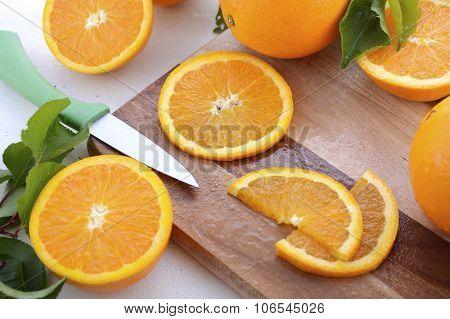 Slicing Oranges.