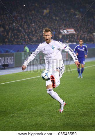 Andriy Yarmolenko Of Fc Dynamo Kyiv