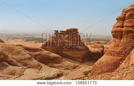 Red Mountain Landscape - Desert Wasteland / Canyon