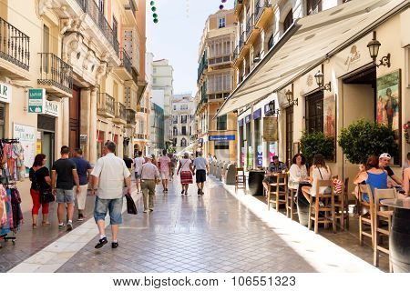 Pedestrianised Street In Malaga