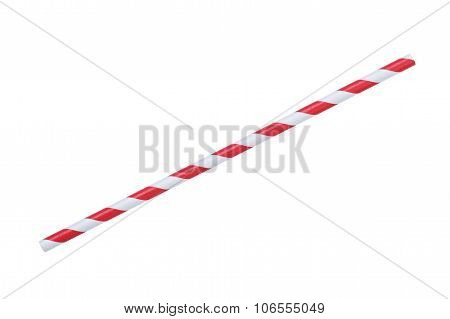 red striped papaer straw