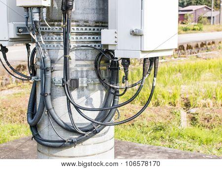 Control Units Of Telephone Pole