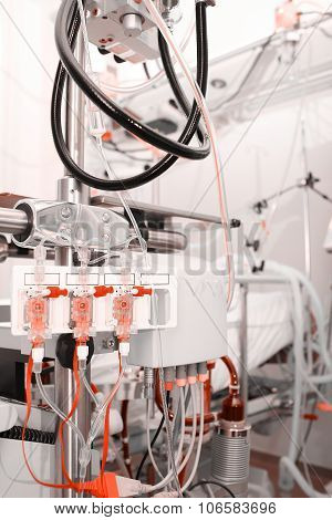 Dialysis Patient's Blood In The Ward