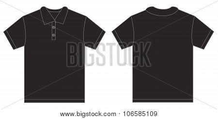 Black Polo Shirt Design Template For Men