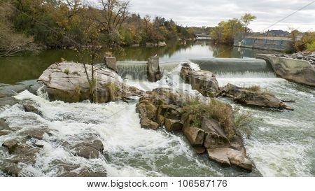 Small Urban Waterfall
