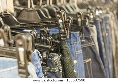 Jeans In Shop
