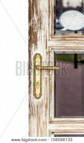 Worn Door Handle