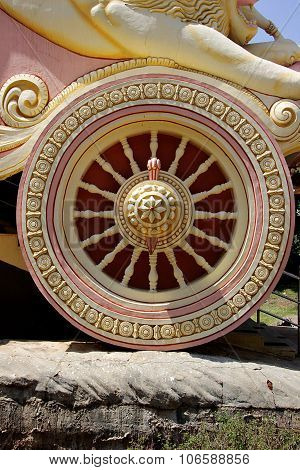 Sculptured Wheel Of Chariot