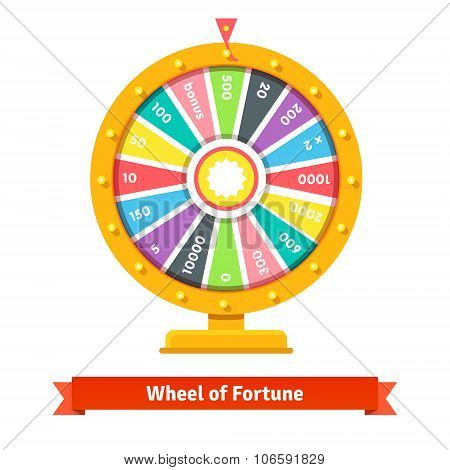 Wheel of fortune with number bets