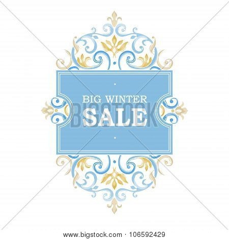 Vector Sale Discount Banner In Victorian Style.