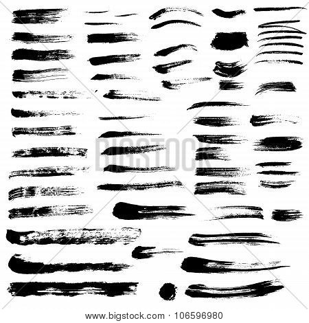 Black Paint Brush Strokes Collection Vol. 2