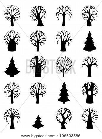 Vector Set Of Tree Symbols.